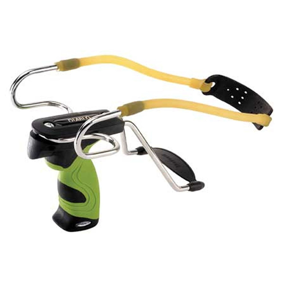 Barnett Diablo Slingshot with Polymer Handle - Green and Black