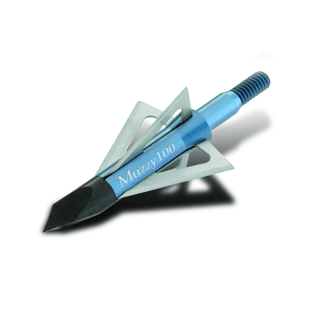 Muzzy 209 Muzzy 4 Blade Blue 100gr Screw-In Broadheads - 6/Pack
