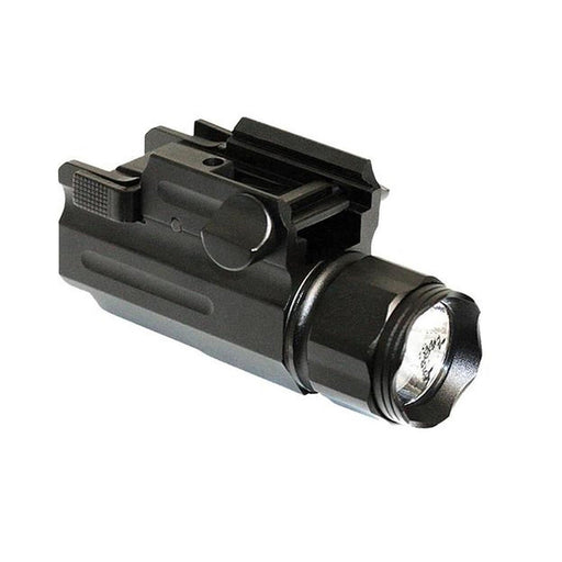 AIM 150 Lumens Tactical Flashlight with Quick Release Mount - Black