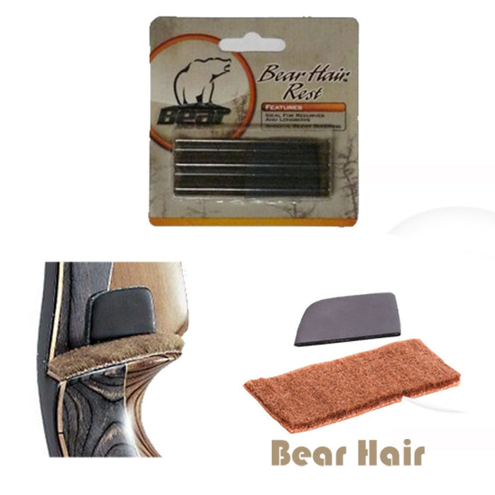 Bear Hair Arrow Rest with Silent Plate Wall Self-adhesive