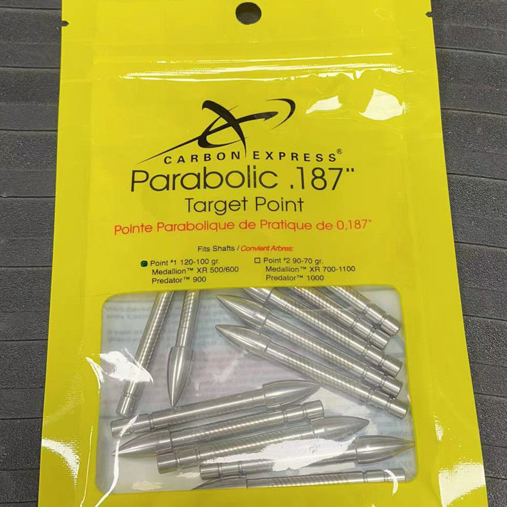 Carbon Express Archery Arrow Parabolic Target Point .187 ID - 12 Pack
