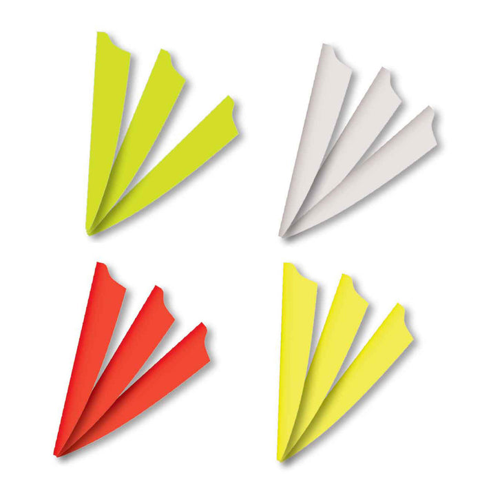 "Norway 3"" Fusion Vanes White Radical Blend Shape - 36/Pack"