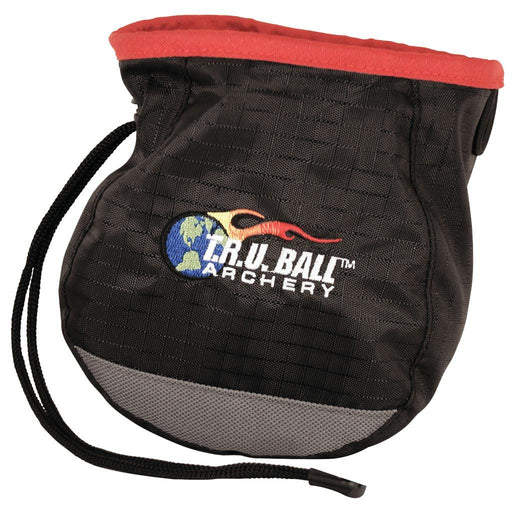 T.R.U. Ball Release Pouch Archery Aid Bag Logo Draw String - Black