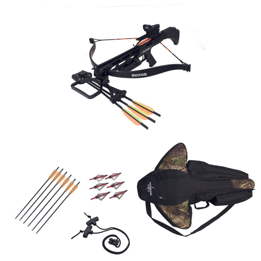 SAS Honor 175lbs Recurve Crossbow Red Dot Scope Package +Bag+9xArrows+Broadheads