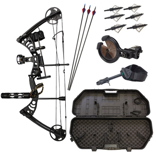 SAS Scorpii 55Lb Compound Bow Travel Package