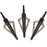 3-Blade Crossbow Broadheads Tips for 14/16/20in Arrows 150lbs 100-Grain - 3/pack