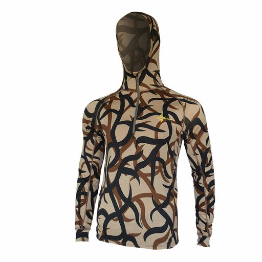 ASAT Bedrock Merino 1/4 Zip Base Layer Hoodie Natural Scent Control