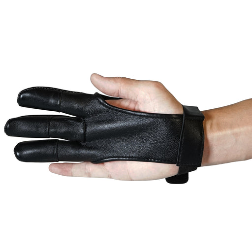 SAS Archery Leather Protective Gloves Three Fingers Hand Release