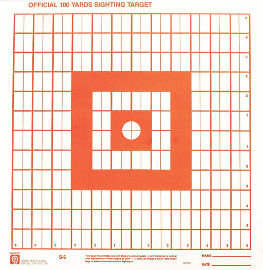 Hoppe's No. 9 100-Yard Fluorescent Orange Target Paper - 20/Pack