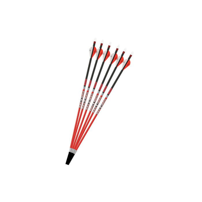 Carbon Express Maxima RED Fletched Carbon Arrow w/ Dynamic Spine Control 6 pack