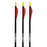"PSE Archery Explorer Black/White/Red Arrows 26"" or 28"" - 3/Pack"