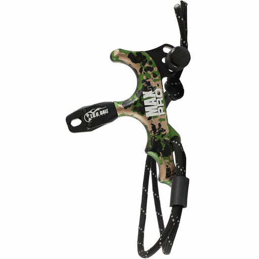 Tru Ball Max Pro Plus 4 Finger Thumb Release with Lanyard - Black/Camo