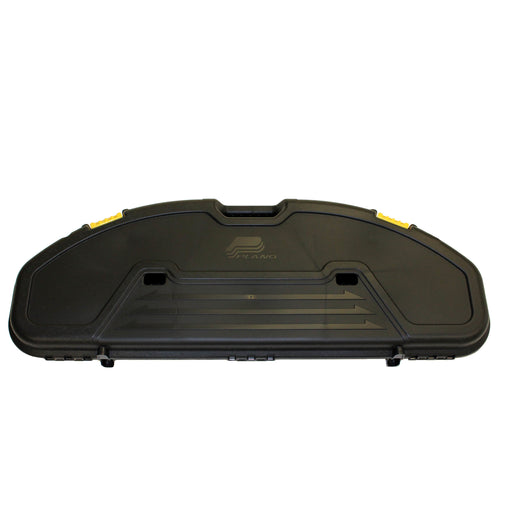 Plano Ultra Compact Hard Bow Case Polymer Black w/ Yellow Latches - Made in USA