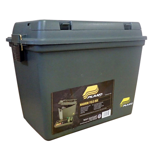 Plano Magnum Field/Ammo Box with Life Out Tray/Dividers - OD Green