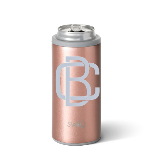 Personalized Skinny Can Cooler - Rose Gold