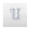 Vintage Vine Single Letter Cocktail Napkins - Frost