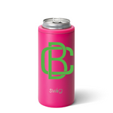 Personalized Skinny Can Cooler - Matte Pink