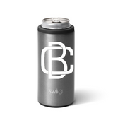 Personalized Skinny Can Cooler - Graphite