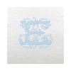Vintage Vine Single Letter Cocktail Napkins - Placid Blue