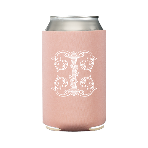 Vintage Vine Single Letter Koozie (S/6) - Dusty Rose