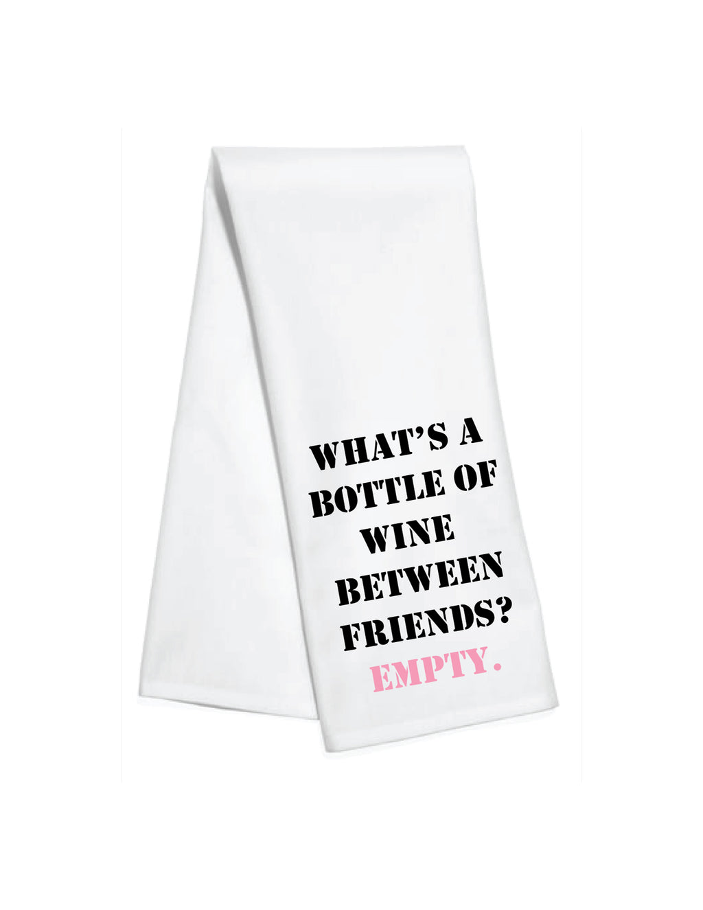 Empty Bottle Kitchen Towel