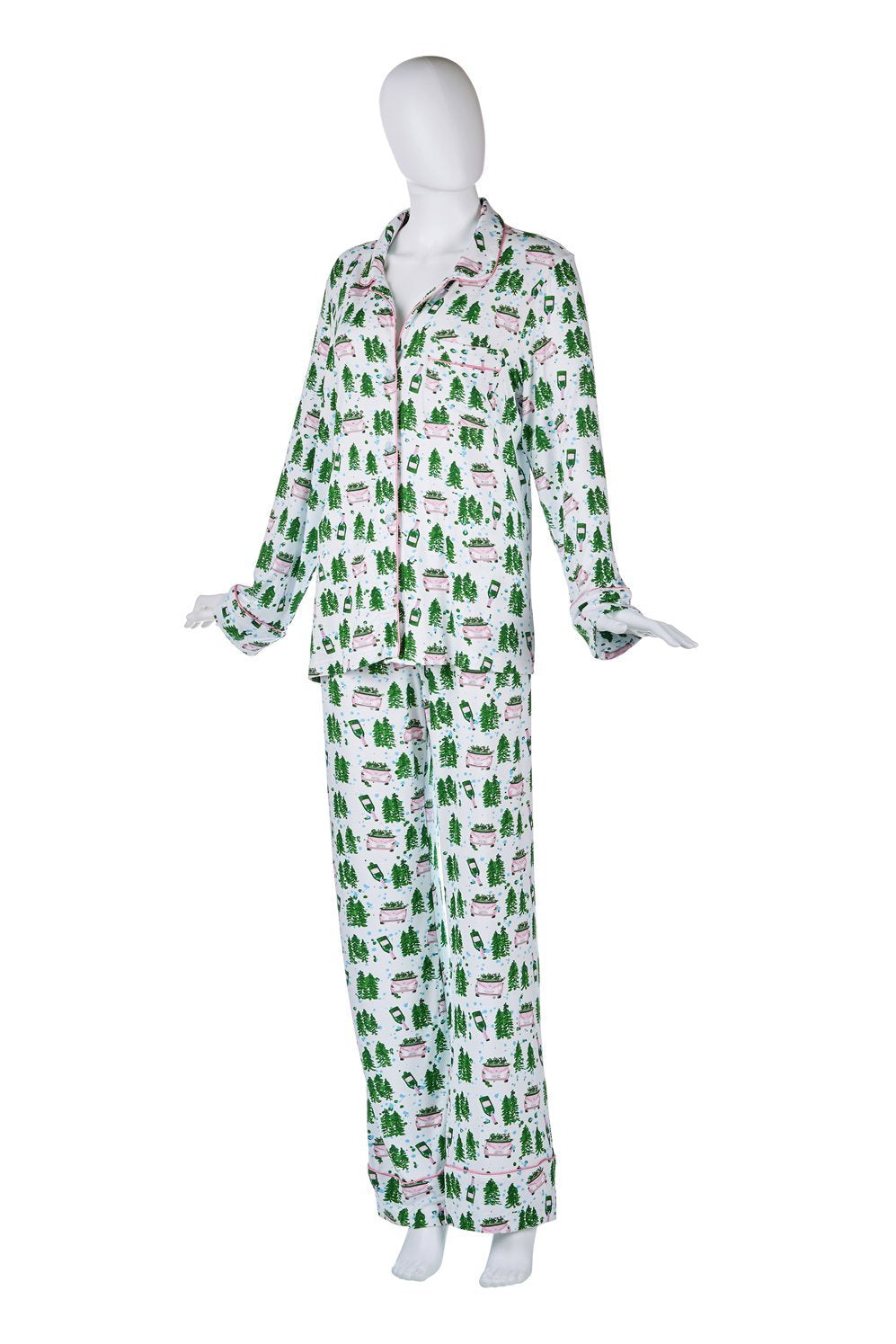 Christmas Champagne Delivery Pajama Set