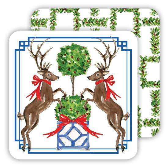 Christmas Deer Duo Coasters