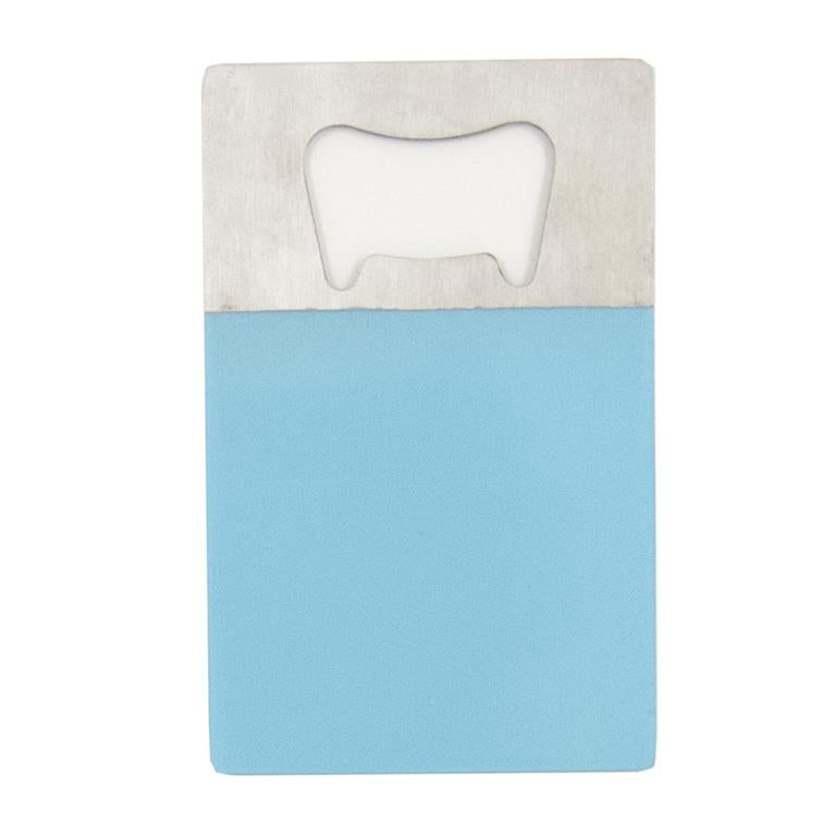 Light Blue Credit Card Bottle Opener