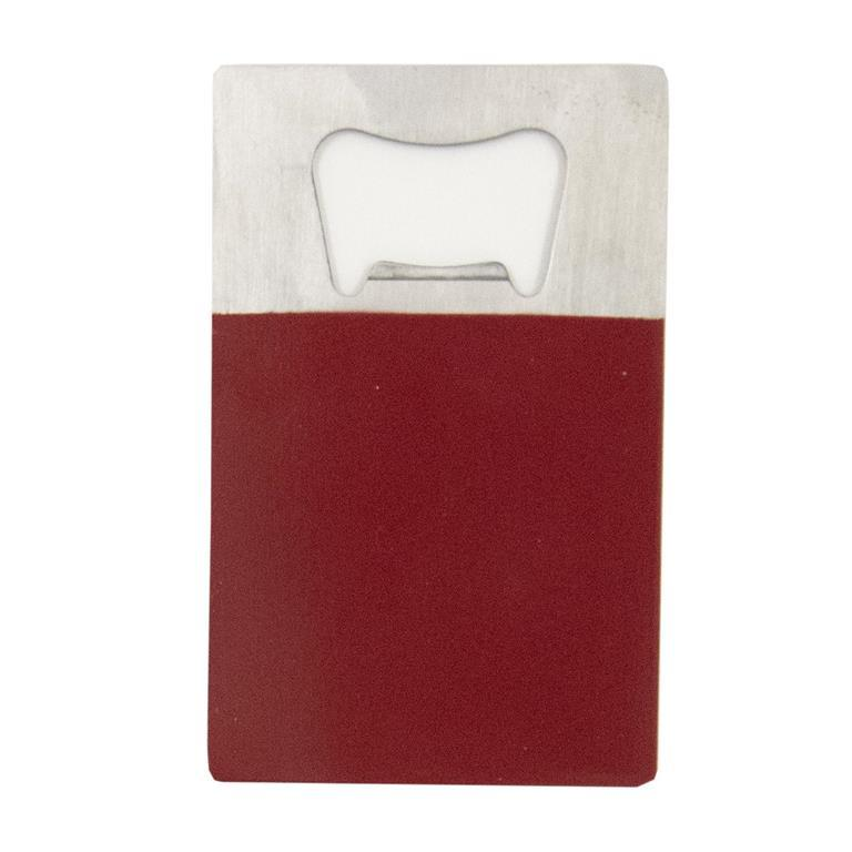 Crimson Credit Card Bottle Opener
