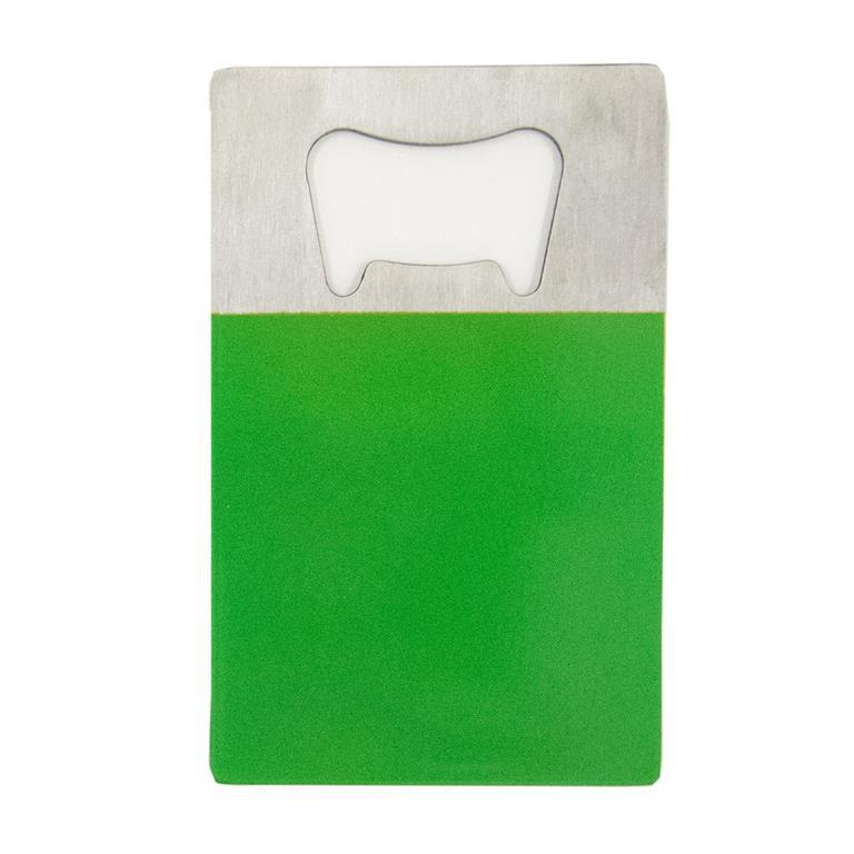 Green Credit Card Bottle Opener