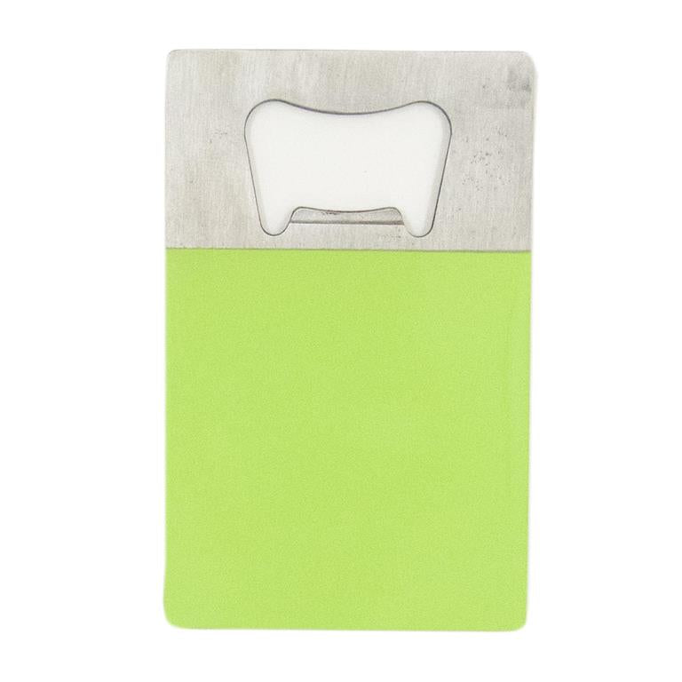 Lime Credit Card Bottle Opener