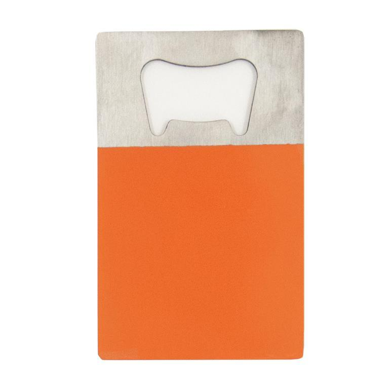 Orange Credit Card Bottle Opener