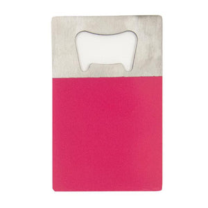 Hot Pink Credit Card Bottle Opener