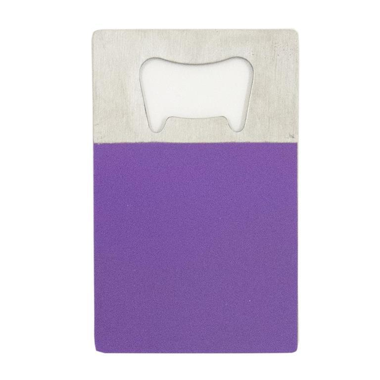 Purple Credit Card Bottle Opener