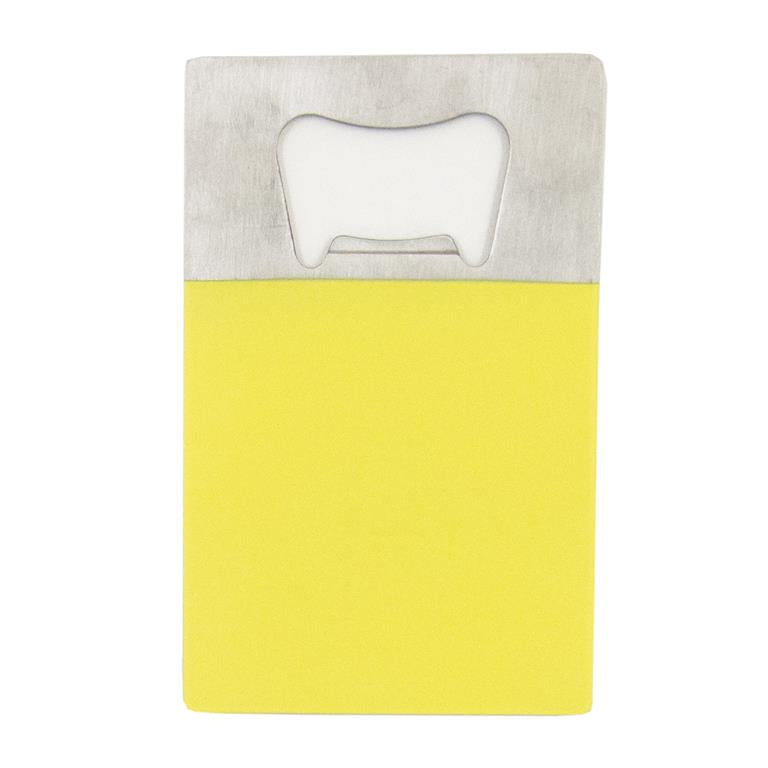 Yellow Credit Card Bottle Opener
