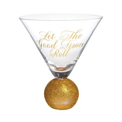 Let the Good TImes Roll Martini Glass