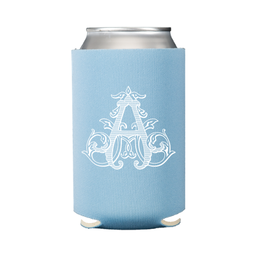 Vintage Vine Single Letter Koozie (S/6) - Placid Blue