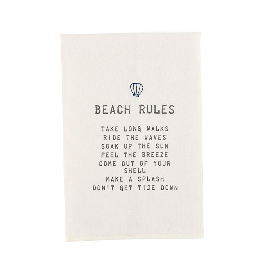 Beach Rules Bar Towel