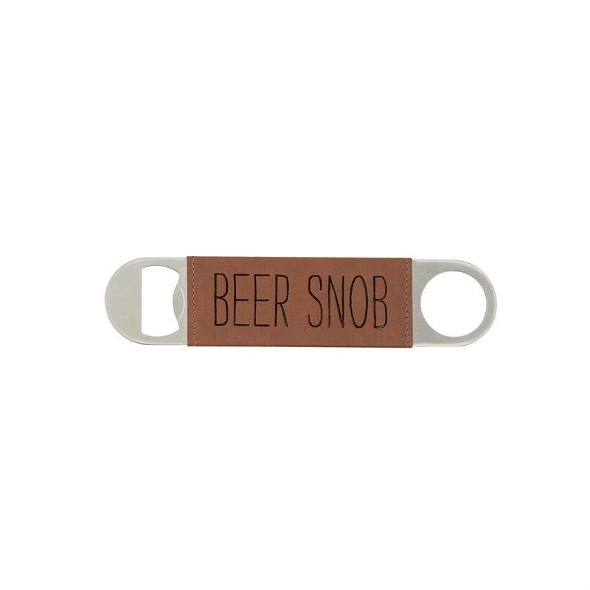 Leather Wrapped Bottle - Beer Snob