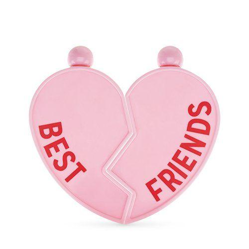 Best Friends Heart Flask