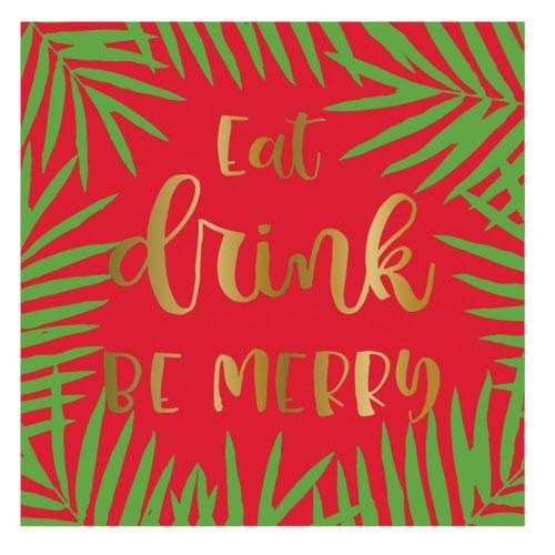 Eat Drink Be Merry Cocktail Napkins