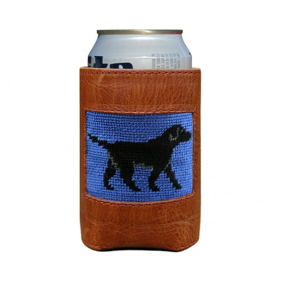 Smathers & Branson Black Lab Needlepoint Can Cooler