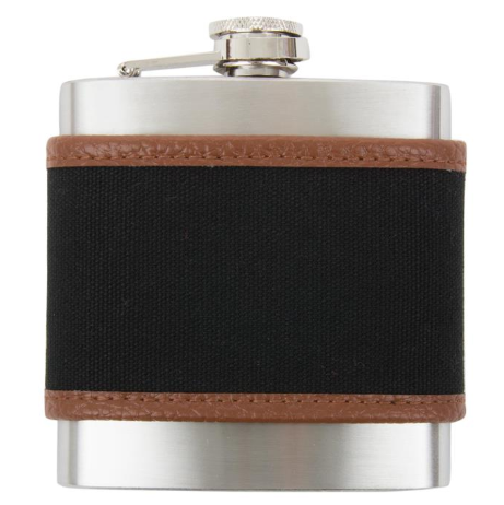 Canvas Flask - Black