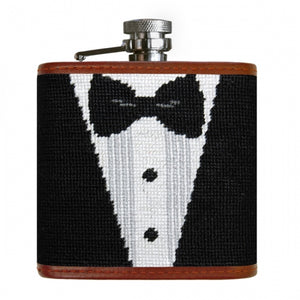 Smathers & Branson Black Tie Affair Needlepoint Flask