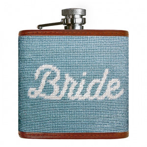 Smathers & Branson Bride Needlepoint Flask