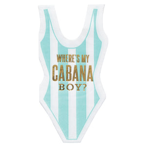 Cabana Boy Swimsuit Beverage Napkins