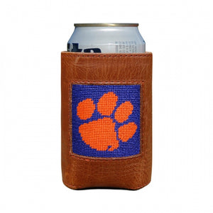 Clemson Tigers Needlepoint Can Cooler