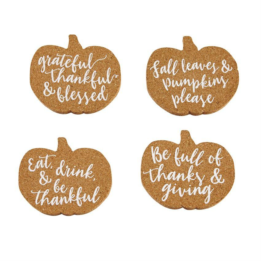 Pumpkin Cork Coasters