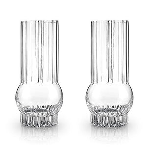 Viski® Deco Highball Glasses