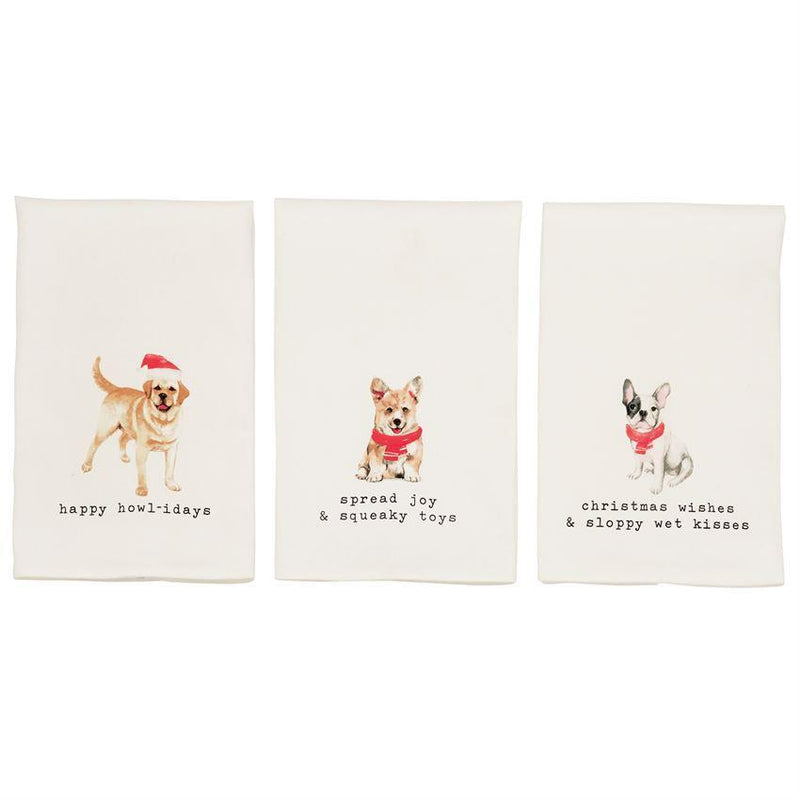 Doggy Christmas Bar Towels